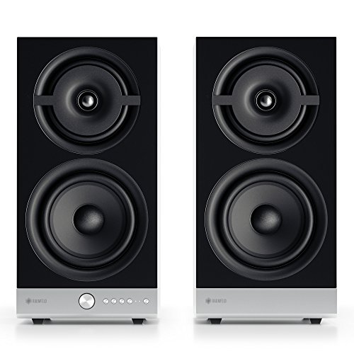 Raumfeld Stereo M Wireless Streaming Bookshelf Speakers (Pair, White)