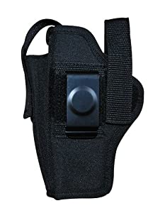 Gun / Airsoft Black Ambidextrous Belt Holster with Pouch Size 14 Metal Clip