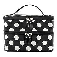 DuaFire Cosmetic Bag Double Layer Dot…