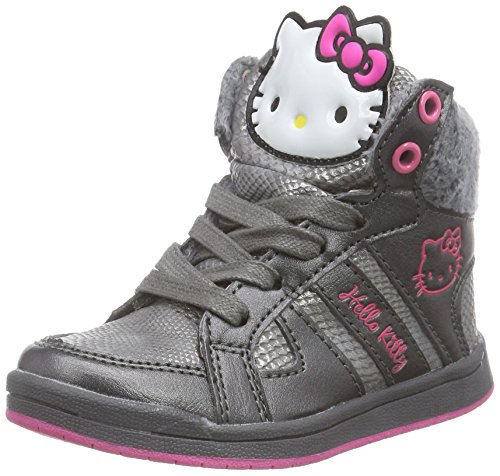 Hello Kitty HK Barre, Sneaker alta Ragazza, Grigio (Grau (123 grey/fuchsia)), 30