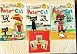img - for Pete the Cat Set of 3 Paperback Books and Read Along Cd Includes Pete At the Beach, Pete's Big Lunch & Play Ball! By book / textbook / text book