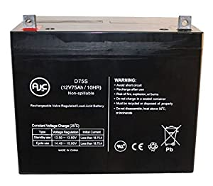 Alpha Unlimited AGM1265T 12V 75Ah Wheelchair Battery - This is an AJC Brand™ Replacement