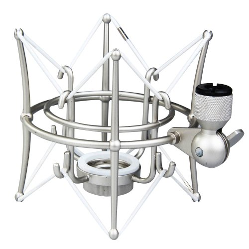 Vktech Durable Audio Shock Mount For A-51/A6/S-7/Thor/Odin/Vienna Microphones Silver