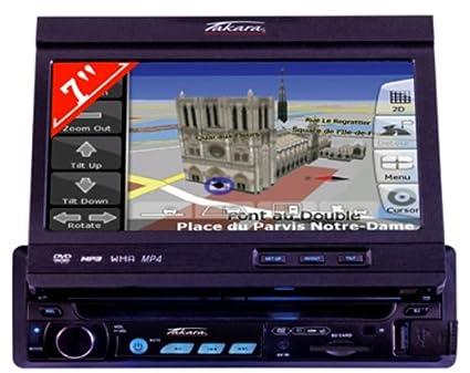 """Takara GPV 1207 Autoradio DVD  GPS intégré  Ecran motorisé 7"""" 16/9  Touches Tactiles  Lecteur SD Entree aux 4*50W Noir"""