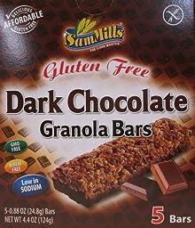SAM MILLS BAR GRANOLA GF CHOC DARK, 4.4 OZ