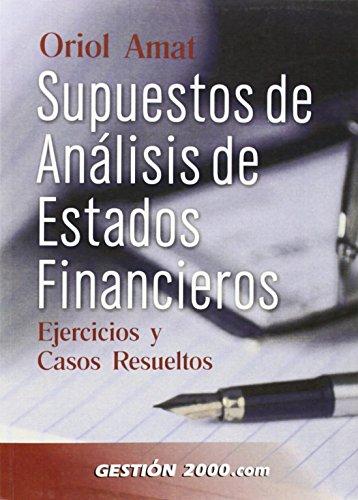 SUPUESTOS DE ANALISIS DE ESTADOS FINANCIEROS