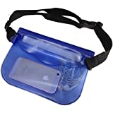 Attmu Waterproof Pouch with Waist Strap, Universal Waterproof Case Bag - Keep and Protect Your Valuable Items Safe, Dry and Clean, Perfect for Boating, Kayaking, Rafting, Swimming