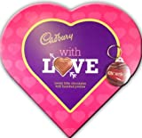 * Cadbury * Heart Shaped Luxury Chocolates & Chocoholic Keyring Gift Set, Ideal For Mothers Day or Easter