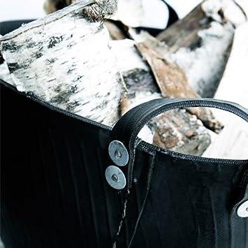 handgefertigt Flechtkorb zusammenklappbar X-Large black strips Aufbewahrungskorb f/ür den Innenbereich