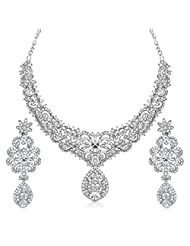 Meenaz Jewellery Set For Women,Girls Necklacess Set With Earring In American Diamond Traditional Jewellery For...