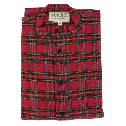 Magee Highland Check Men's Brushed Cotton Nightshirt - Mens Magee Nightshirt