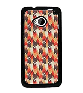 PrintDhaba Pattern D-5394 Back Case Cover for HTC ONE M7 (Multi-Coloured)