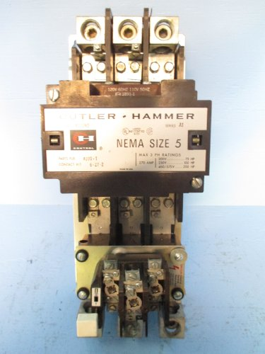 Cutler Hammer Size Sz 5 A10Gn0 Motor Starter Series A1 110V Ch C-H