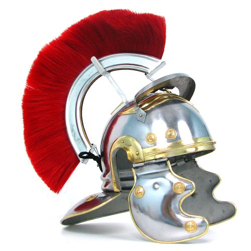 Whetstone Cutlery Crested Roman Officers Helmet (Silver)