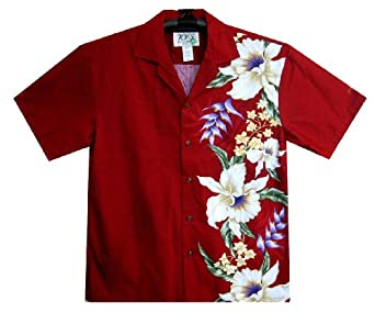 KY's Hawaiian Shirt original made in Hawaii 100% Cotton, red, Small