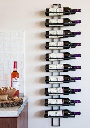 Casier à vin Etagère Étagère à vin Dies 116cm en métal pour 10 bouteilles Porte-bouteilles Porte-bouteilles 11699