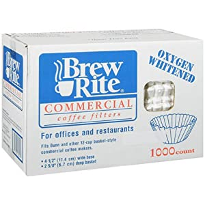 Brew Rite Commerical Size Coffee Filters 1,000 Filters by Bunn