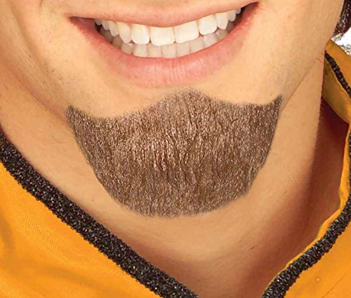 Forum Novelties Men's Handmade Novelty Goatee, Brown, One Size