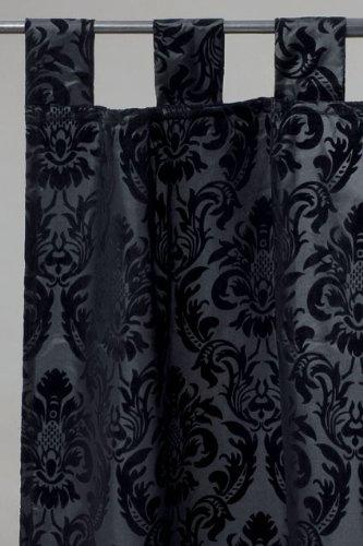 tapete barock dekoschal schlaufenschal ornament schwarz 250x140cm. Black Bedroom Furniture Sets. Home Design Ideas