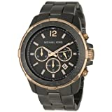 Michael Kors Mens MK8173 Runway Gunmetal and Rose-Tone Watch