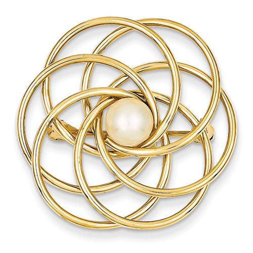Gold and Watches 14k Freshwater Cultured Pearl Pin
