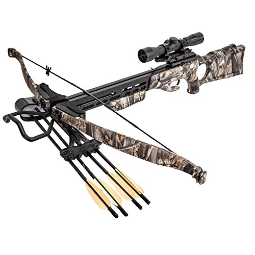 SAS 175lbs G1 Camo Recurve Hunting Crossbow 4×32 Scope Package