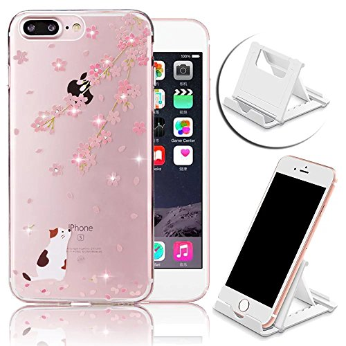 Colourful Motif Coque pour iPhone 7 Plus Etui Strass Diamant Case pour iPhone 7 Plus Coque,Vandot iPhone 7 Plus 5.5 Pouces Souple Housse Transparent