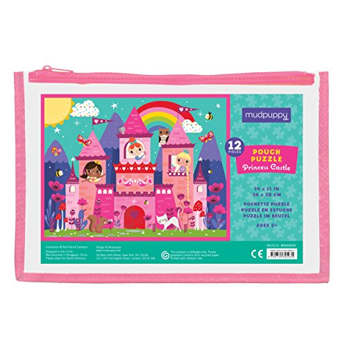 Mudpuppy Princess Castle Pouch Puzzle (12 Piece)