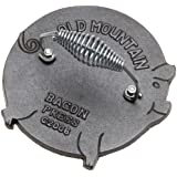 Bacon Press - Pig Shaped Bacon/Grill Press - By Old Mountain (7.5 Inch Diameter)