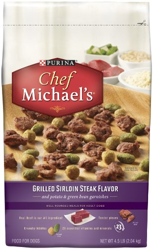Chef Michael's Grilled Sirloin Dry Dog Food 4.5 Pound Bag
