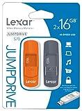 Lexar 16GB JumpDrive S70 USB Flash Drive Memory Stick - Twin Pack