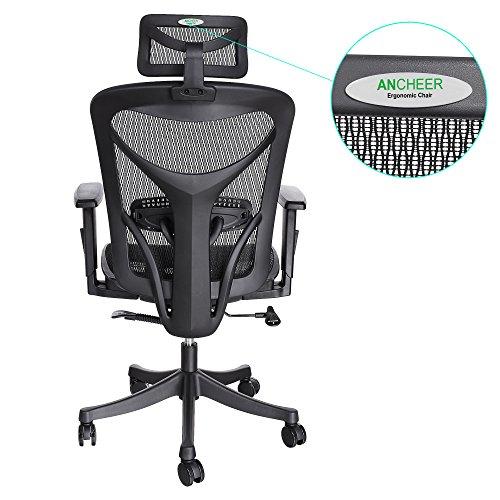 best deals ancheer mount ergonomic black mesh computer office chair