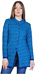 Montrex Women's Plain Coats (Montrex-8401Blue, Blue, L)