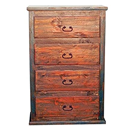 Rustic Western Bandera Chest of Drawers Dresser Real Wood