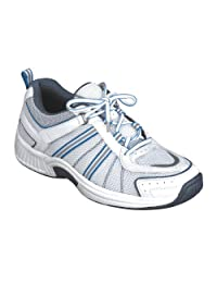 Orthofeet 910 Women's Comfort Diabetic Extra Depth Sneaker Shoe Leather-and-Mesh Lace
