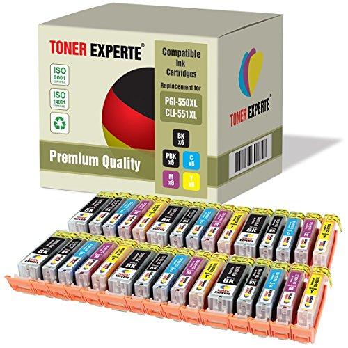 Kit 30 XL TONER EXPERTE® PGI-550XL / CLI-551XL Cartucce d'inchiostro compatibili per Canon Pixma iP7150, MG5450, MG5550, MG5650, MG6350, MG6450, MG6650, MG7150, MG7550, MX725, MX925, iP7250, iP8750, iX6850