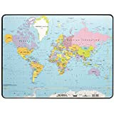 Durable World Map Desk Pad, 15.75 x 20.75 x .07 Inches, Multicolored (DBL721119)