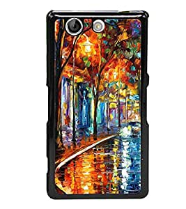 Colourful Painting 2D Hard Polycarbonate Designer Back Case Cover for Sony Xperia Z4 Compact :: Sony Xperia Z4 Mini