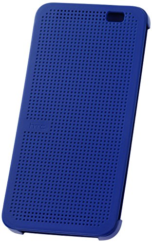 HTC  Dot View Case for HTC One (E8) - Retail Packaging - Imperial Blue