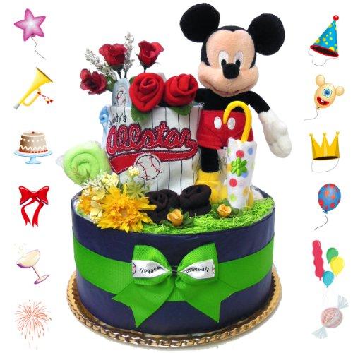 Baby Disney popular Mickey diaper cake boy Carter Garber wash cloth (W) M
