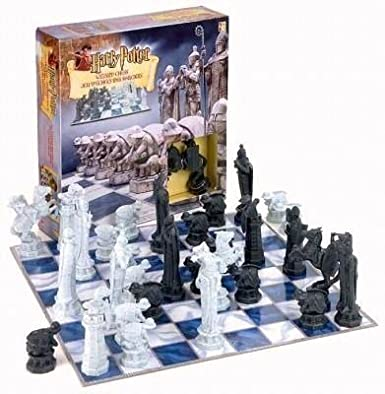 Vintage 2000 Harry Potter Chess Set from Sorcerer's Stone Film Release