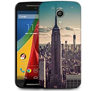 Snoogg Tall Buildings Designer Protective Phone Back Case Cover For Motorola G 2nd Genration / Moto G 2nd Gen