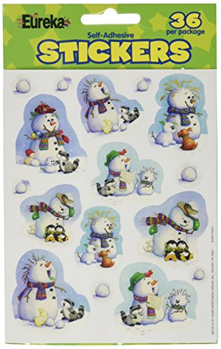 Eureka Playful Snowmen Stickers