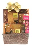 Wine.com Sampler Gift Basket Containing Godiva Chocolates