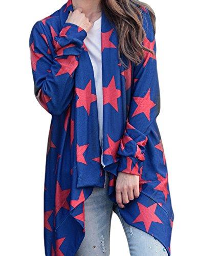 Little Hand® Autunno Invernale Donna Cardigan Maniche Lunghe Maglia Maglioni Oversize Asimmetrico Camicetta Pullover Cappotto Giacca