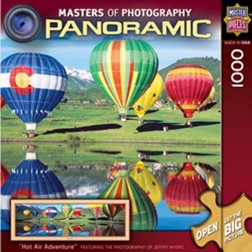 MasterPieces Hot Air Adventure Panoramic Puzzle Master of Photography Collection, 1000-Piece