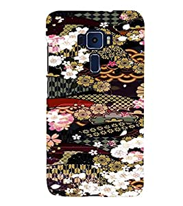 PrintVisa Girly Ethnic Flower Design 3D Hard Polycarbonate Designer Back Case Cover for ASUS ZENFONE 3 Deluxe