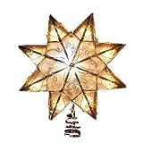 Kurt Adler Indoor 10 Light 8-Point Capiz Star Treetop with...