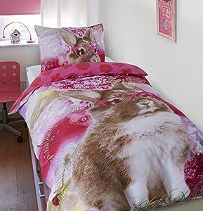 Dreamhouse bedding housse de couette lapin 140x200 220 - Helline housse de couette ...