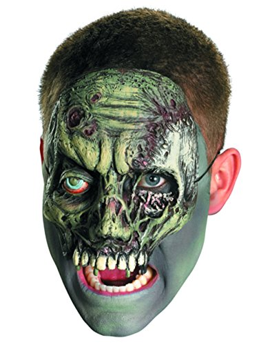Adult Walker Undead Zombie Chinless Half Vinyl Costume Mask